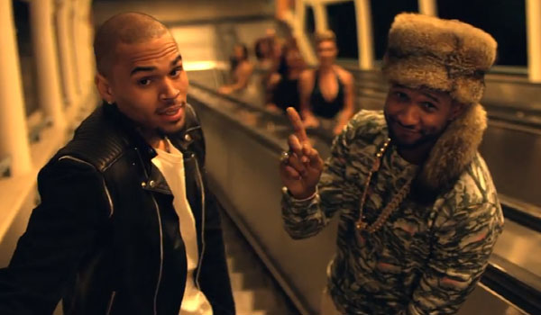 Usher and Chris Brown in the latter's hit song video 'Loyal'
