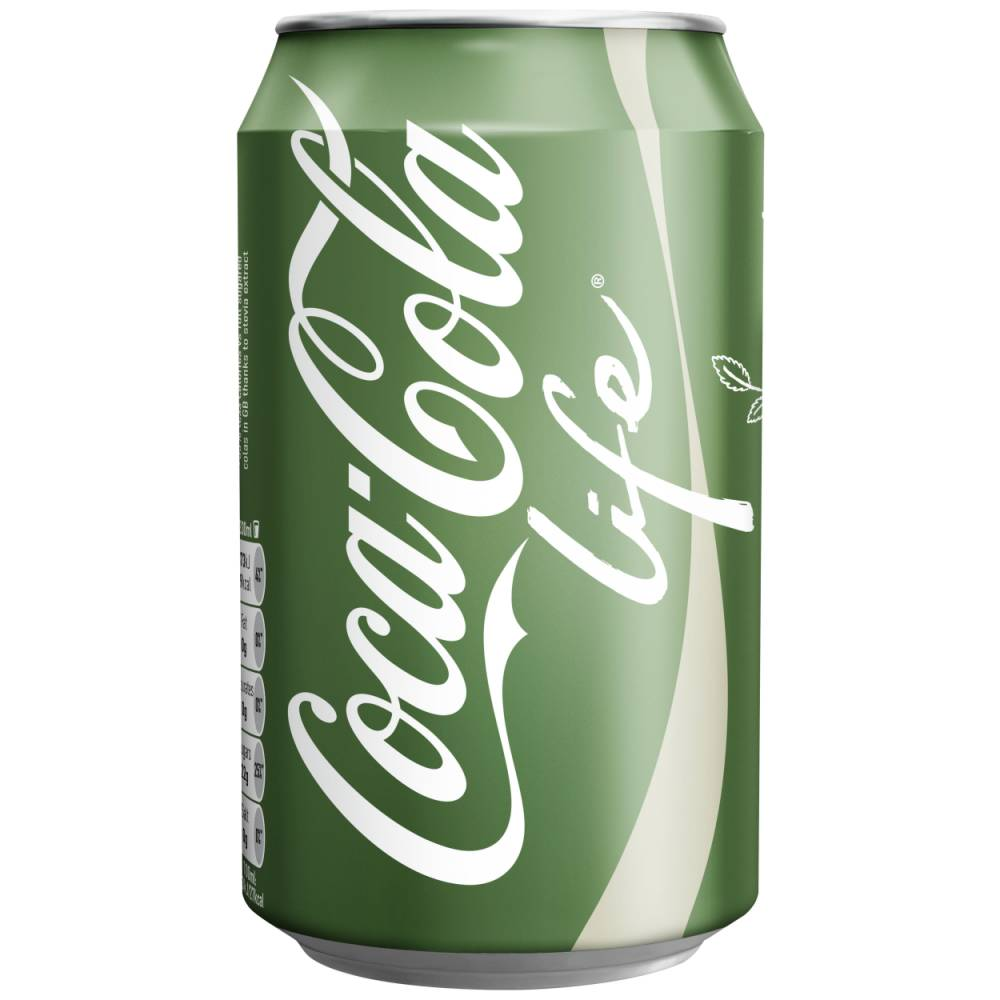 Undated Coca-Cola handout photo of Coca-Cola Life, a naturally-sweetened drink with a third less sugar and calories than its regular cola which will be launched later in the year as part of Government and industry-wide efforts to tackle obesity. PRESS ASSOCIATION Photo. Issue date: Wednesday June 11, 2014. Coca-Cola Life will go on sale in Britain in September following a pilot in Argentina and Chile, making it the first new Coca-Cola since Zero was launched in 2006. See PA story CONSUMER CocaCola. Photo credit should read: Coca-Cola/PA Wire NOTE TO EDITORS: This handout photo may only be used in for editorial reporting purposes for the contemporaneous illustration of events, things or the people in the image or facts mentioned in the caption. Reuse of the picture may require further permission from the copyright holder.