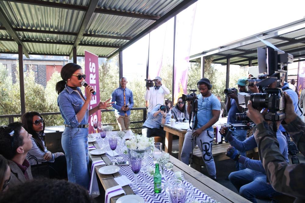 Bonang addressing guests - Steers Made It Myself
