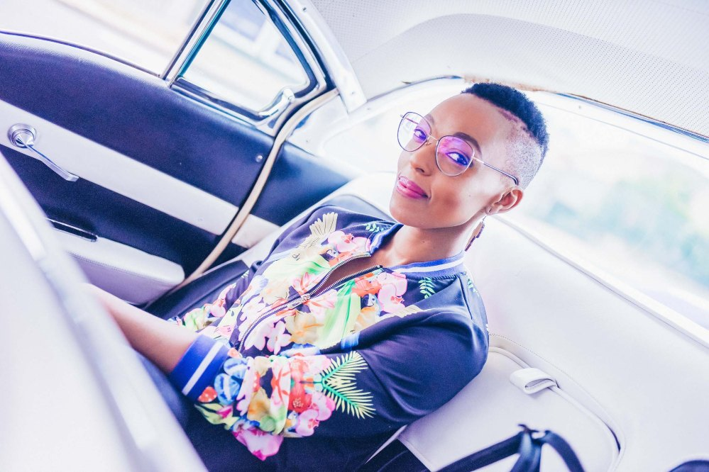 MC Pabi Moloi arriving in a Cadillac
