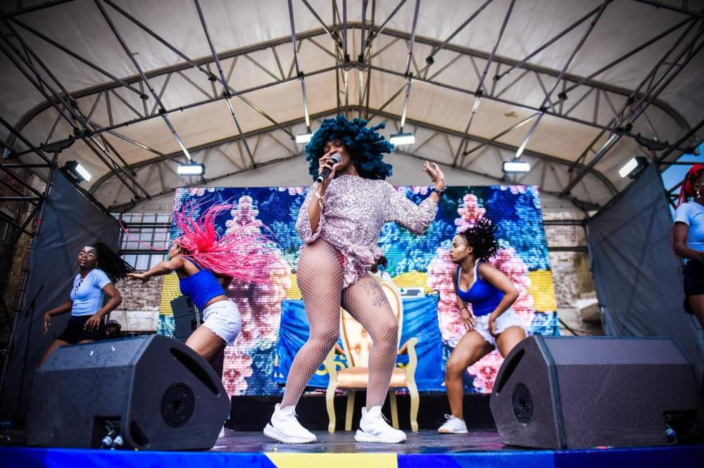 Moonchild Sanelly performin on stage - Flying Fish Flavour Odyssey.jpeg
